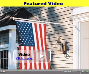 Click to play the SunSetter Wall-Mounted Flagpole Video