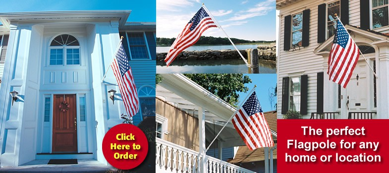 Click Here to Order the SunSetter Deluxe 6-Foot Flagpole Set. The perfect Flagpole for any home or location